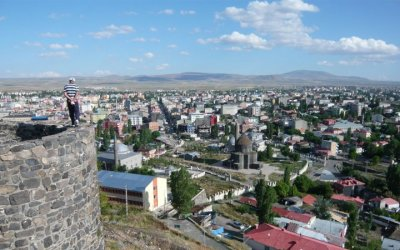 View of Kars from the citadel