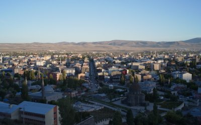 View of Kars from the fortress