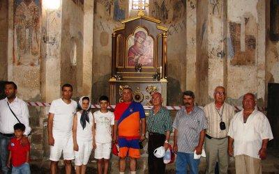 в церкви Св. Крест (Сурб Хач) на о. Ахтамар